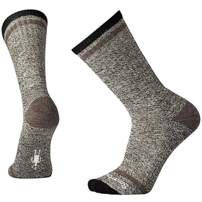 Smartwool Men's Larimer Crew Socks (Black/Taupe Heather) Medium