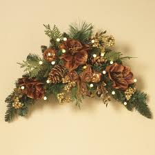 Pre Lighted Christmas Trees by Decorative Garland Gilded Prelit Led Swag Christmas Garland