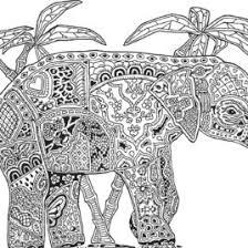 Adult Printable Abstract Elephant Coloring Pages For Adults