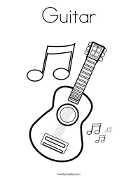 Ingenious Guitar Coloring Page 9