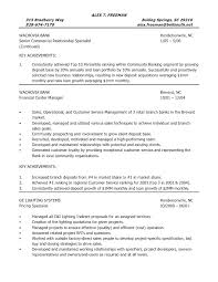 Branch Operations Manager Resume Retail Templates Template C Header