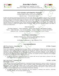 Examples Of Good Cv For Teachers Resumes