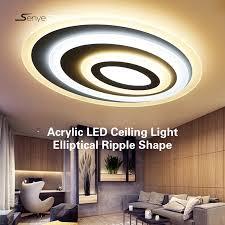 moderne acryl led deckenleuchte elliptische ripple form decke panel led wohnzimmer schlafzimmer innen 8 cm hohe led beleuchtung