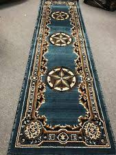 Texas Star Western Lodge Rustic Turquoise Area Rug QUICK SHIPPING
