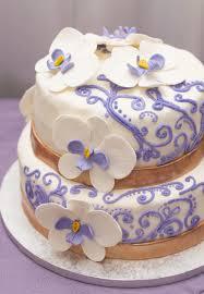 Purple Gold Wedding Cake Rain City Cakes