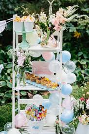 White Three Tiered Shelves And Pastel Cake Stand From MY Sweet Event Melbourne