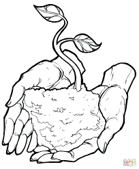 Click The Happy Earth Day Coloring Pages