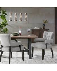 INK IVY Orlando Grey Dining Arm Chair Set Of 2