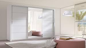 kleiderschrank luke 250 cm groß spiegel schiebetüren schrank modern weiß