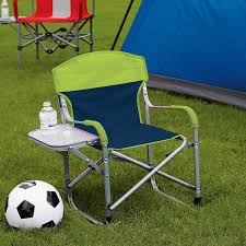 Kid's Directors Chair With Fold Away Side Table - Great For Sports,  Camping, Beach 15