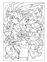 Free Printable Pokemon Character Coloring Page