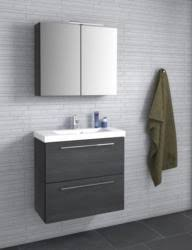 badezimmermöbel set o thane 2 teilig inkl waschtisch waschbecken farbe eiche schwarz