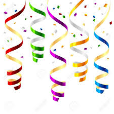 New Year clipart streamer Pencil and in color new year clipart