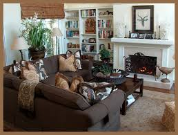 Brown Couch Living Room Design by Living Room Gorgeous Family Room Design With White Interior Fan