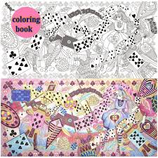 96 Pages Alice In Wonderland Colouring Book For Adult Relieve Stress Secret Garden Style Graffiti Painting Drawing Coloring Books From Office