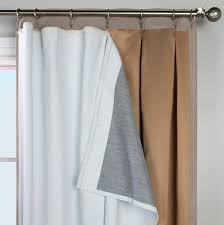 Thermal Curtain Liner Panels by Thermalogic Ultimate Blackout Thermal Liner Curtain U0026 Bath Outlet