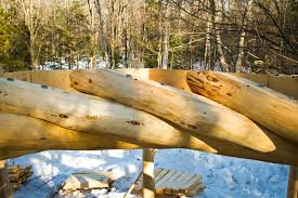 100 Flying Cloud Camp The Tips Of Spruce Log Rafters Rest On One Another In This