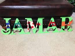 Ninja Turtle Custom Wooden Letters