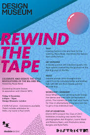Rewind The Tape Event Poster Design Museum
