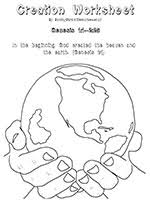 Kids Free 7 Days Of Creation Coloring Pages Bible For Sunday School God Created The Earth Home