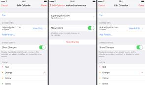How to share iCloud calendars