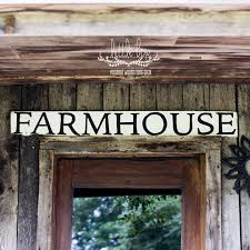 Farmhouse Decor Sign Shiplap Barn Wood Wall Woodland White Rustic
