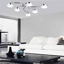 6 flammige led deckenleuchte wohnzimmer deckenle chrom acryl glas