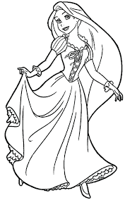 Disney Princess Coloring Pages To Print Rapunzel Of Tangled Page Printabl