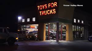 100 Toys 4 Trucks Man Crashes Truck Into For Business In Hesperia YouTube