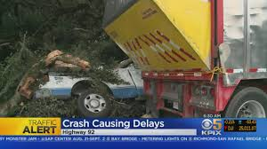 Truck Crash Slows Highway 92 Commute In San Mateo « CBS San Francisco Fatal Crash On I29 At Barry Road Trucker Killed In Accident The Tesla Model S Firetruck California What We Know So Far Terrible Crash In Belgium And One Lucky To Be Alive Girl Semi Truck Crashes Accidents Youtube All Escape Unharmed After Fiery Crash On I696 At Woodward Driver In Was Cellphone Charges Allege Wcco 2 Semis Collide Inrstate 76 Fatigue Blamed Cbs Denver I95 North Yulee Reopens 8 Hours After Deadly Headon We Have No Idea How This Motorcyclist Survived Under A Watch Truck Driver Defy Physics To Avoid Autotraderca Wind Turbine Blade Slices Into Semitruck Crazy Autobahn