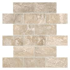 shop american olean laurel heights 12 pack elevated beige brick