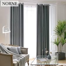 norne schwere geprägte jalousien vorhang für wohnzimmer schlafzimmer schalldichten blackout vorhänge fenster gardinen grau braun solide voile