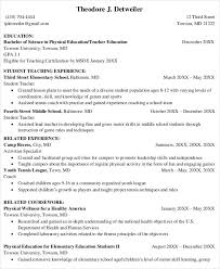 Physical Education Teaching Resume Template