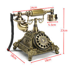 Household Retro Antique Rotary Phone French Style Vintage Old