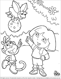 Gorgeous Dora Coloring Pages To Print Out About Inspiration Article