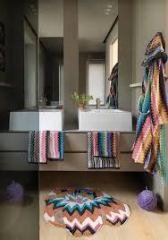 Modern Bathroom Rugs And Towels by Missoni Home Renata Round Bath Rug Gracious Home Home Ideas