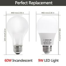 lohas led a19 light bulbs 9 watt 60 watt equivalent led lights
