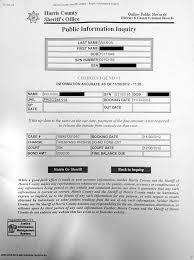 Diane Wilsons Harris County Jail Record Tar Sands Blockade
