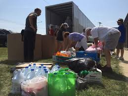 100 Trucking Supplies Cedar Rapids Trucking Company Filling Two Trailers With Supplies For