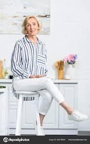 Attractive Grey Hair Woman Sitting High Chair Kitchen ... Young Woman Leaning On High Chair By Table With Glass Of Baby Shopping Cart Cover 2in1 Large Beautiful Woman Sitting On A High Chair In The Studio Fashion How To Plan Wonder Themed 1st Birthday Party First Elegant Young Against Red Stock Photo Artzzz Fenteer Nursing Cushion Women Kids Carthigh Business Sitting Edit Now Over Shoulder View Of Otographing Baby Daughter Stock Photo Metalliform 2104 Polyprop Classroom 121