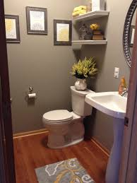 Guest Bathroom Decorating Ideas Pinterest by Gray And Yellow Bathroom Home Decor Pinterest Grey And Yellow