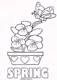 FREE Printable Coloring Page With Spring Theme For Kids To Color
