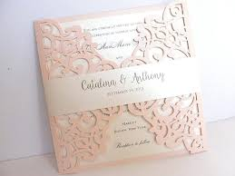 Laser Wedding Invitations Cut Invitation Rustic Invite Lace Bohemian