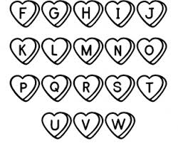 Free Printable Coloring Pages Abc Heart Color