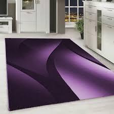 détails sur à poils ras tapis design ombre motif wohnzimmer teppich mauve noir moucheté