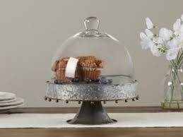 This Cake Stand With Glass Dome Offers The Metal And Structure A Stunning Silver
