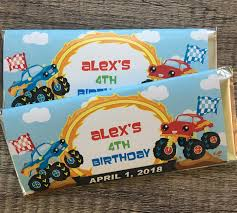 Monster Truck Themed Party Favors-Candy Wrapper Favors With Monster Truck Jam Birthday Party Pro Planner Madness Obstacle Combos Tall Slides Secret Tunnels Custom Blaze And The Machines Invitation Cupcakes Kids Parties Wall Scene Setter Majors Decoration Boy Decorations Ideas Ultimate Pack Birthdays In 2018 Pinterest Bounce House Combo Nice Invitations 94 In Design With Theme Grace Giggles Glue Order A Cake At Cold Stone Creamery