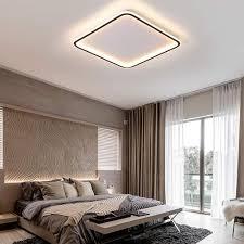 oukaning 40w dimmbare led deckenleuchte warmes natürliches kaltes weißes licht 3000k 6000k quadratische deckenle mit nachtlichtfunktion für