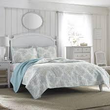 Amazon Laura Ashley Saltwater Reversible Quilt Set King Home Kitchen