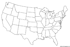 Us Map Coloring Pages Pdf Free Template United Labeled States Page Online Daily Usa